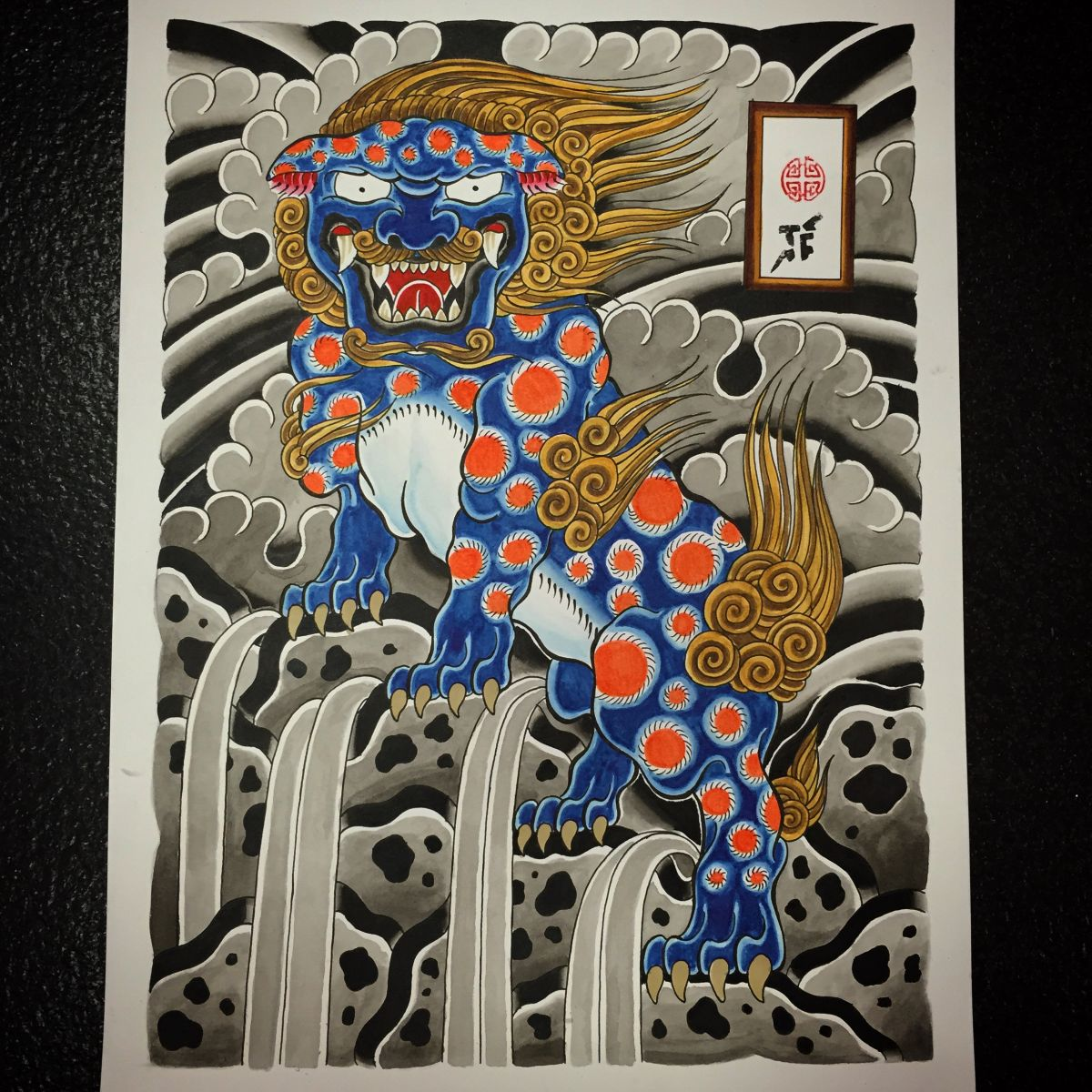 foo dog painting