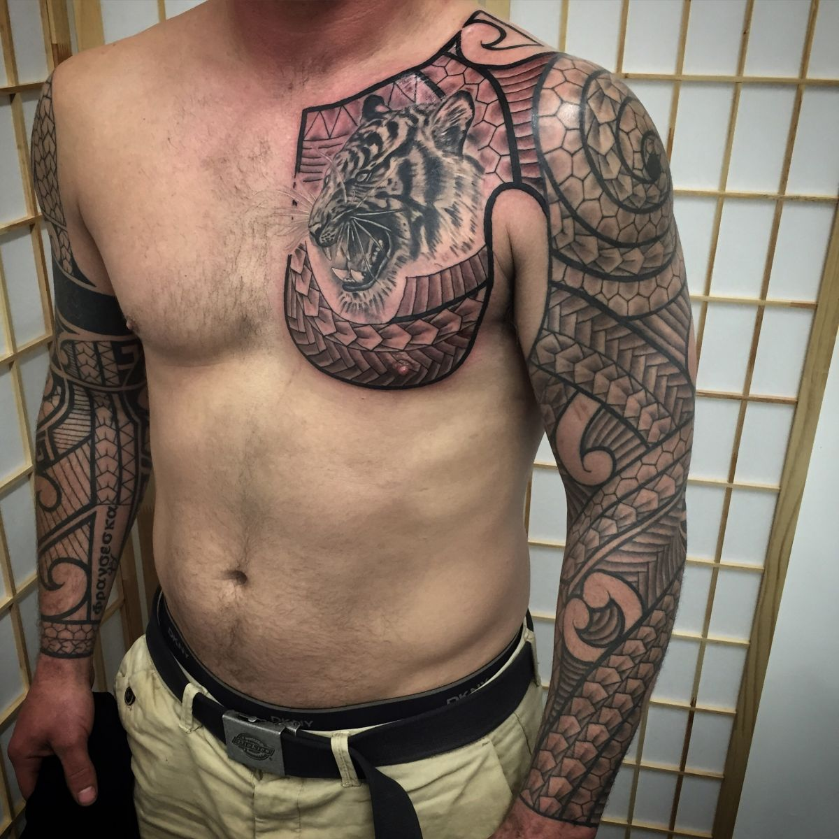 Freehand sleeve and chest