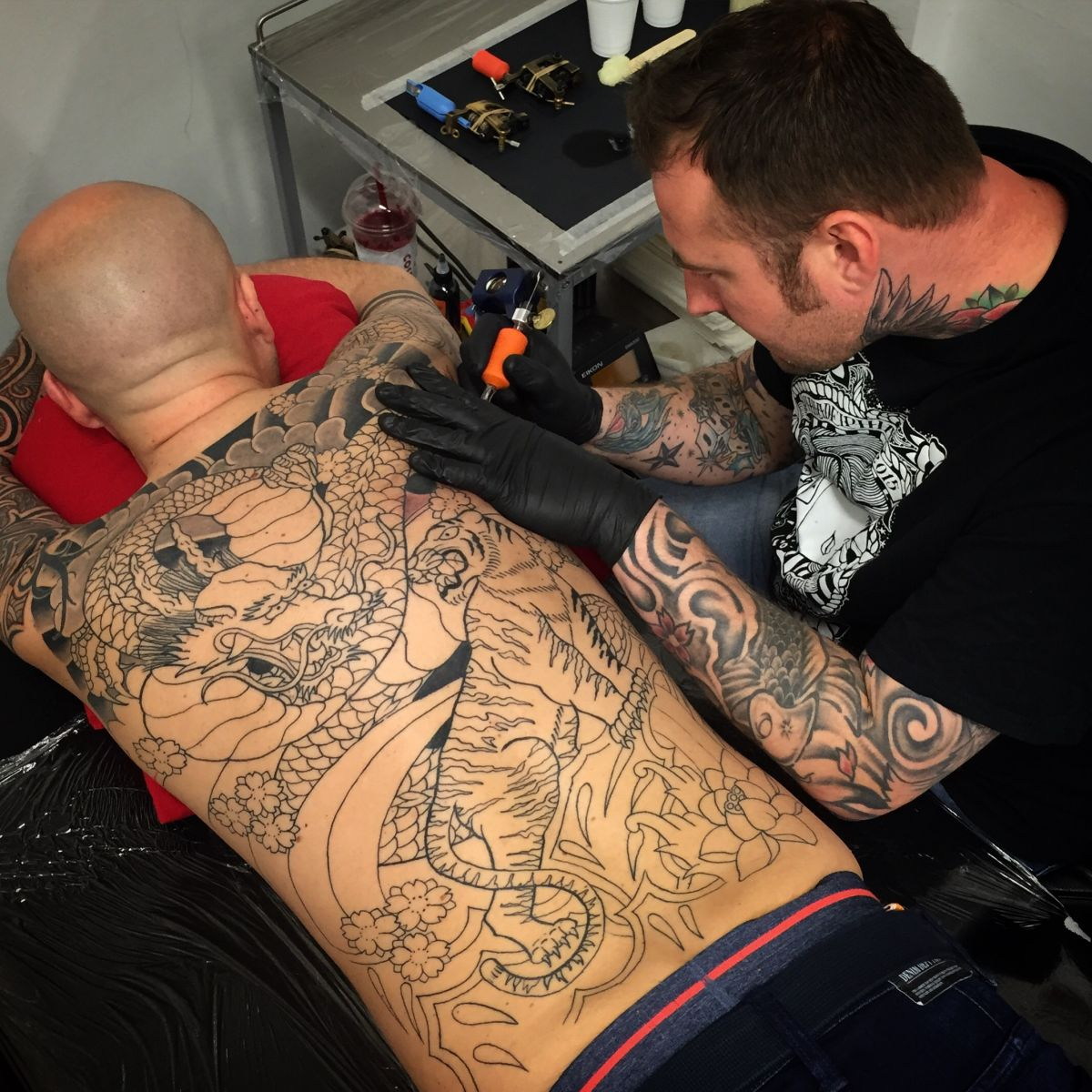 Backpiece in progress by terry